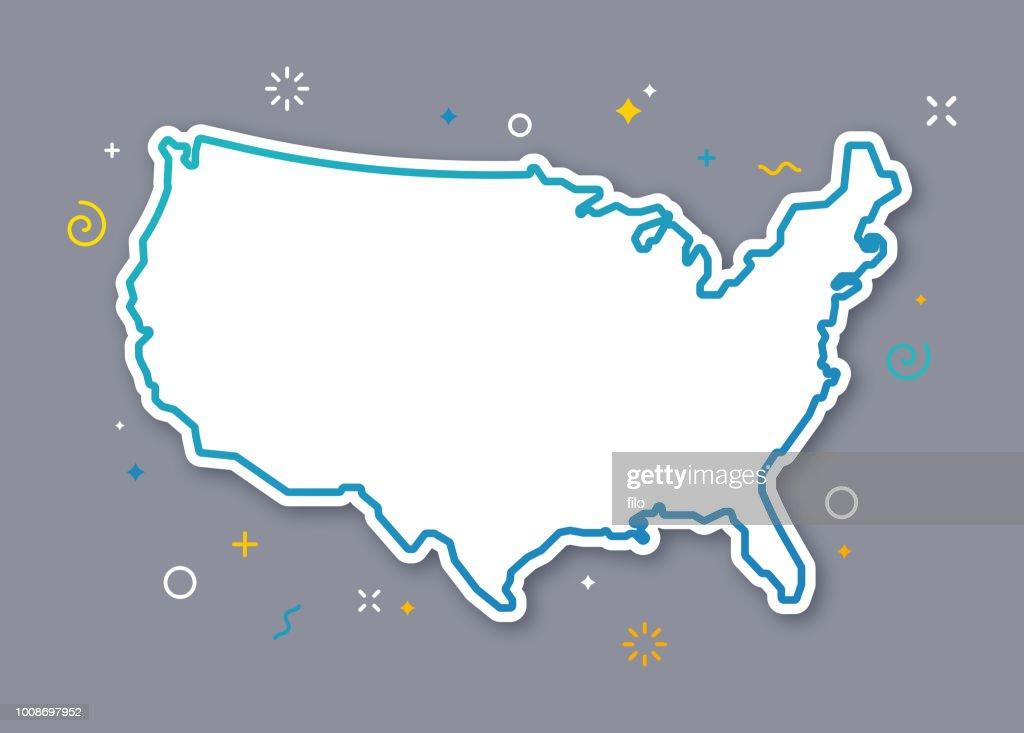 Verenigde Staten overzicht kaart : Stockillustraties