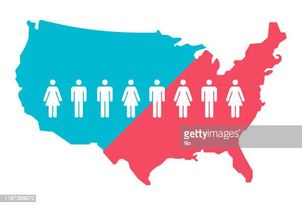 united states people - usa stock illustrations