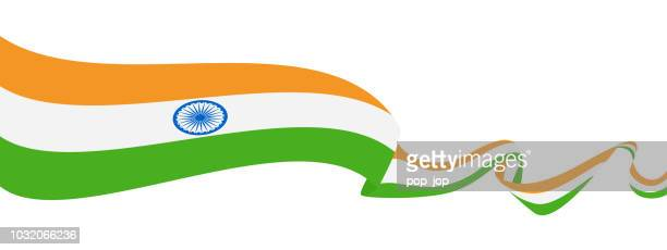 25 - united states - ribbon waving flat - indian flag stock illustrations