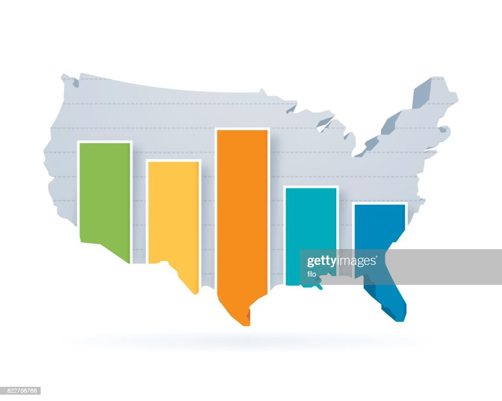 United states statistics bar graph map vector art getty images united states statistics bar graph map vector art ccuart Images