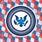 united states symbol bald eagle vector illustration