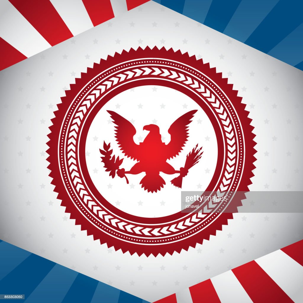 united states symbol bald eagle vector illustration