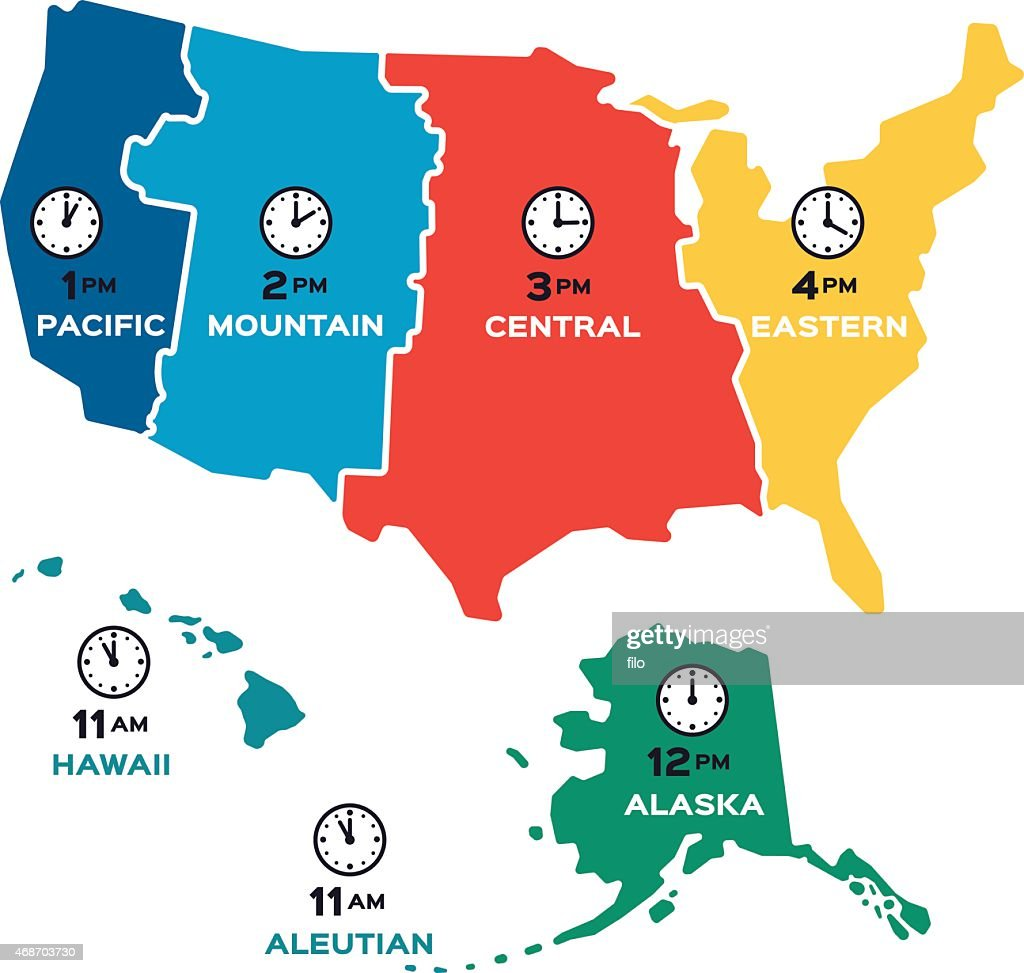 photo about Printable Us Time Zone Map called Us Timezone Map Printable