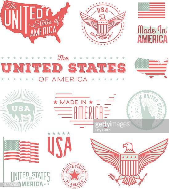 united states typography - werkzeug stock illustrations