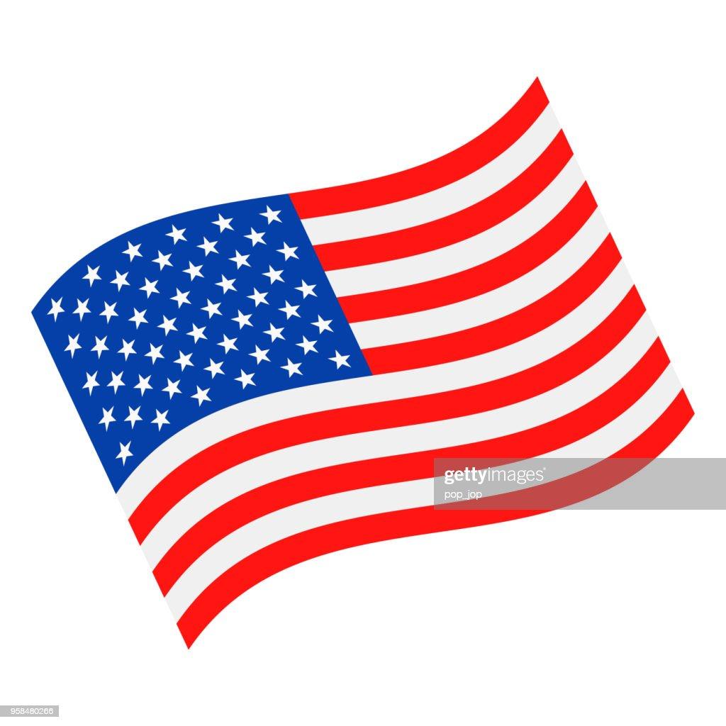United States - Waving Flag Vector Flat Icon