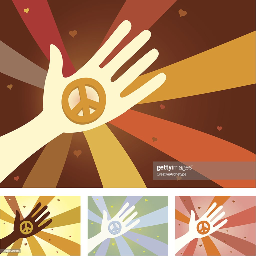 Unity Hands Peace Symbol High Res Vector Graphic Getty Images