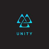 Unity icon, triangle logo