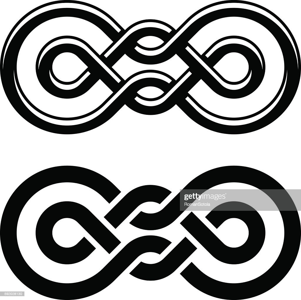 unity knot black white symbol