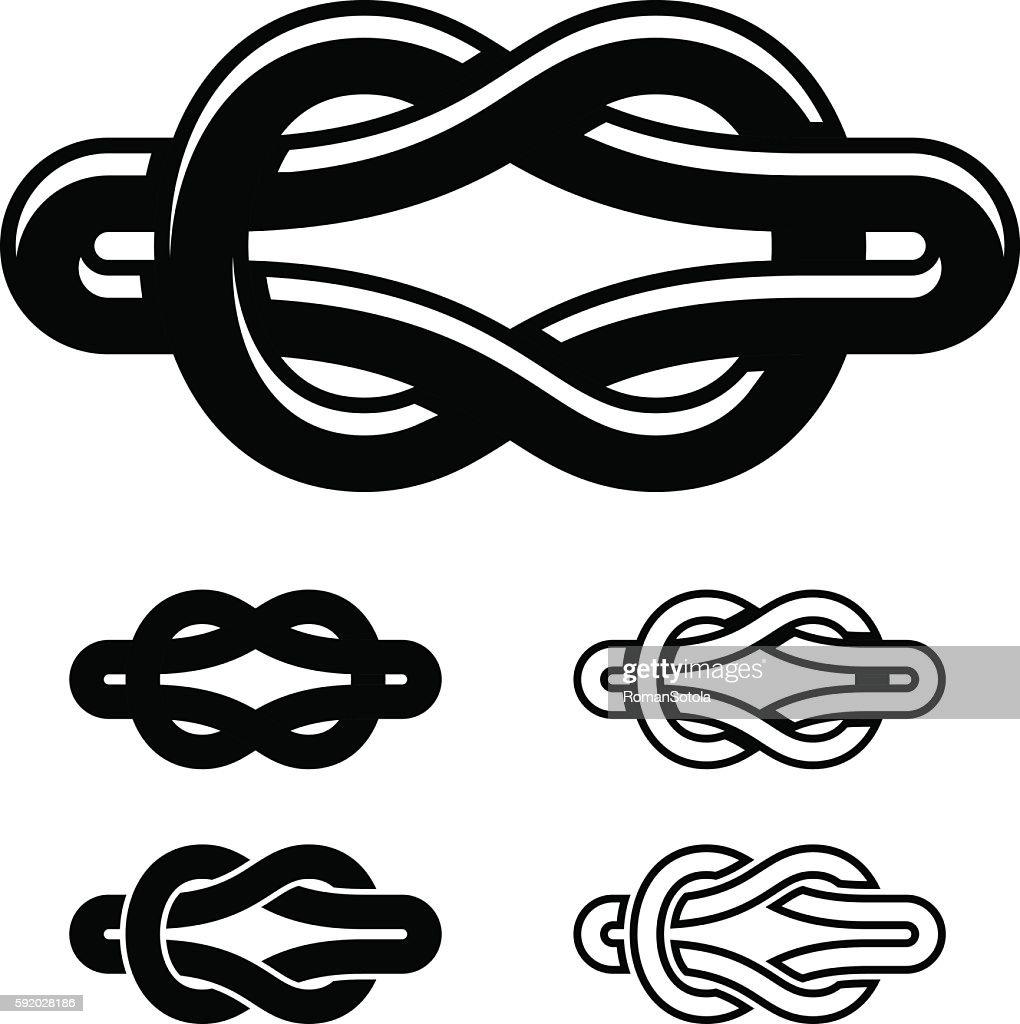 unity knot black white symbols