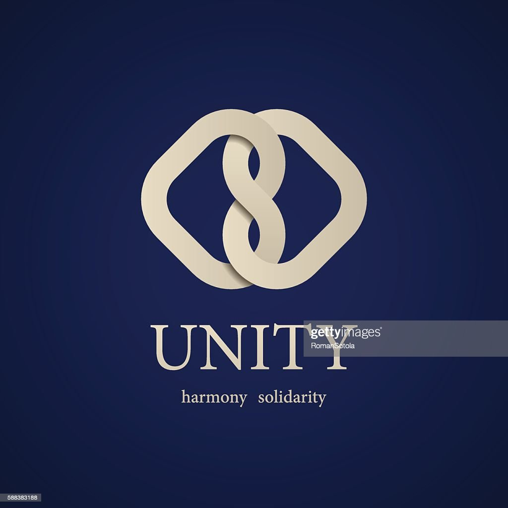 unity knot symbol design template