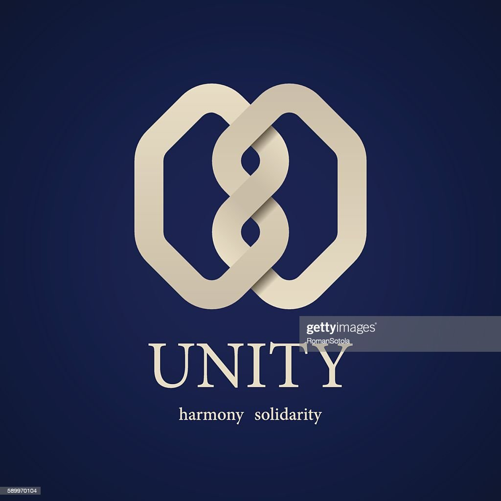 unity knot symbol design template