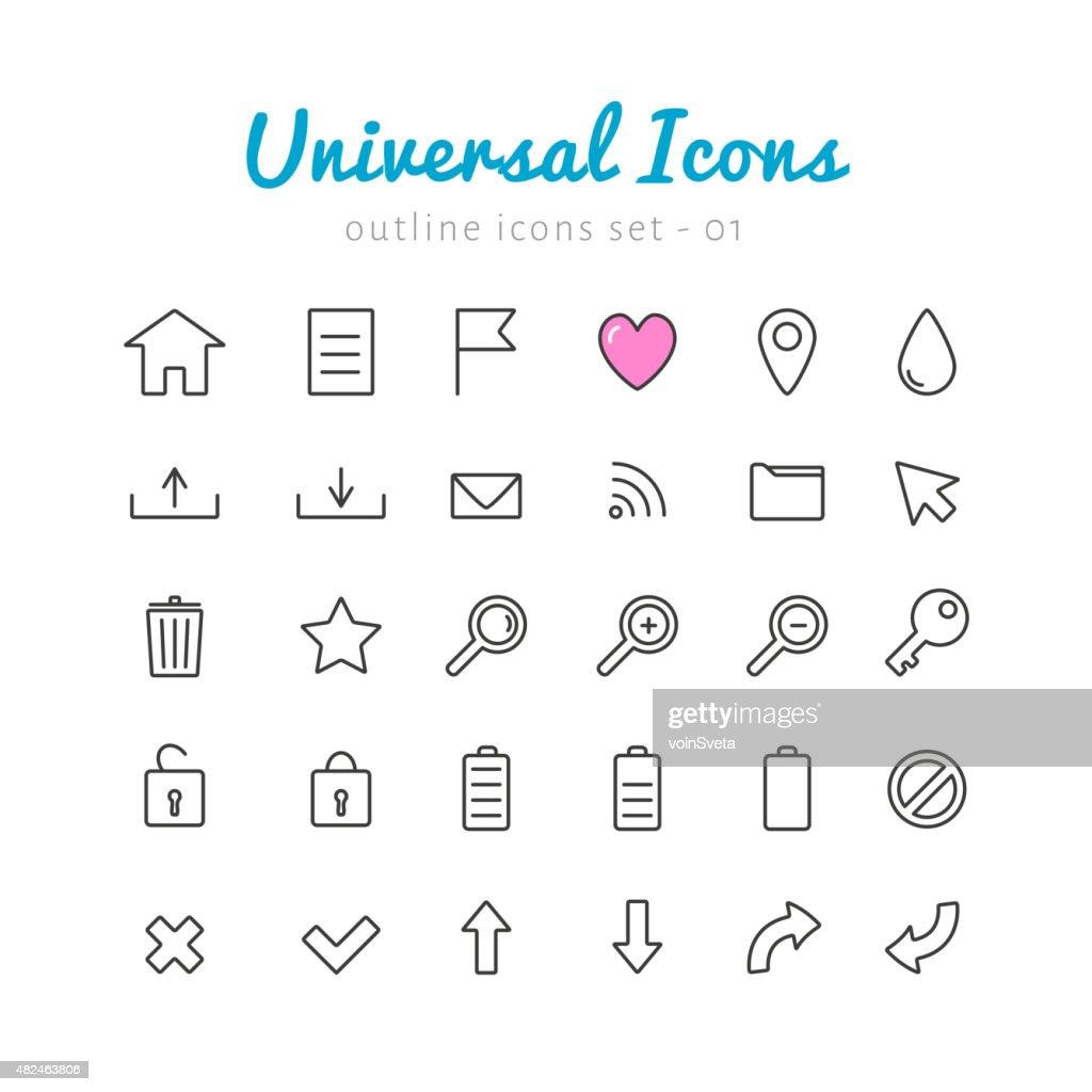 Univerasal web icons set