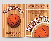 Univercity basketball flyer template with ball