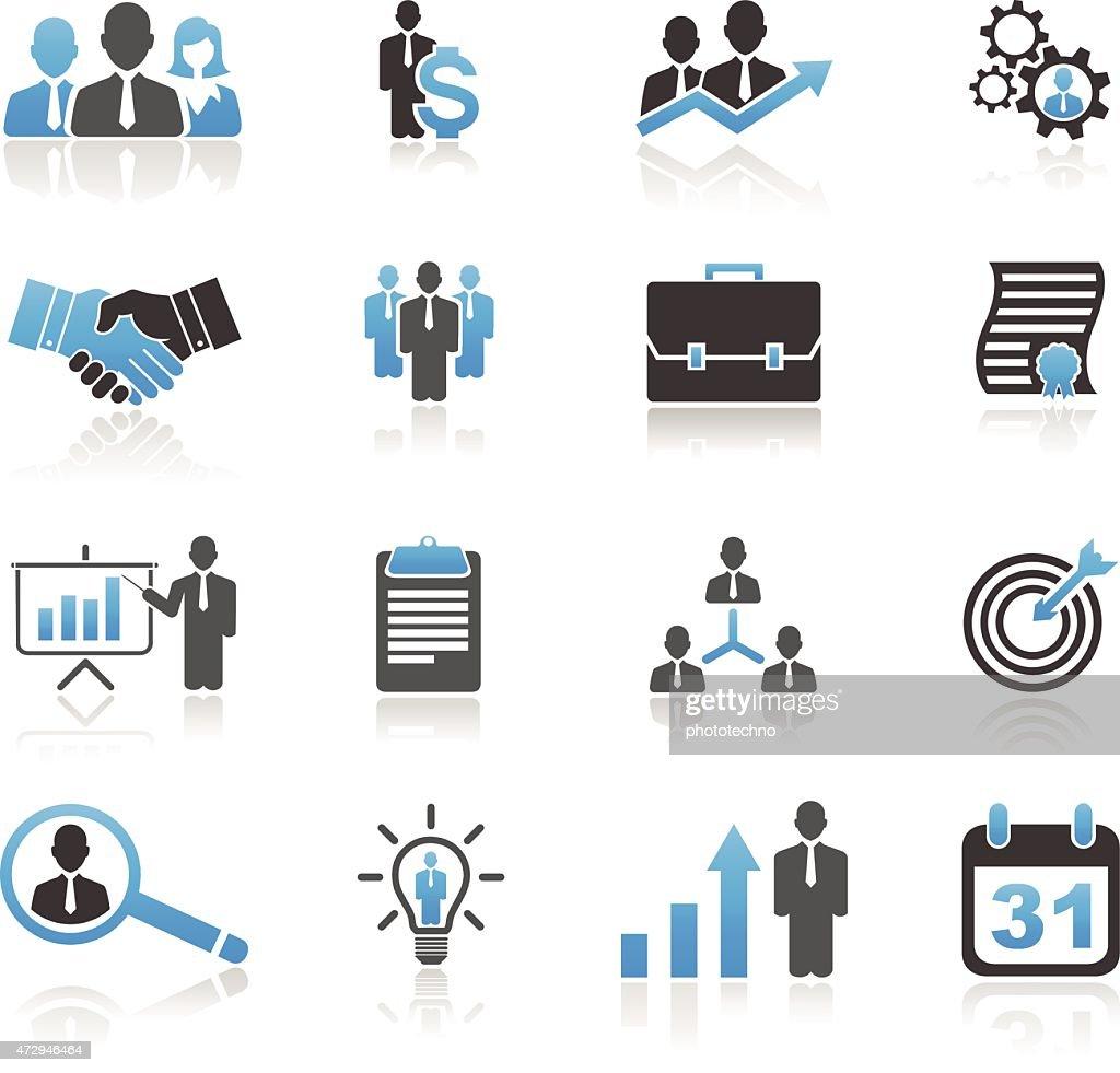 Universal business icon set