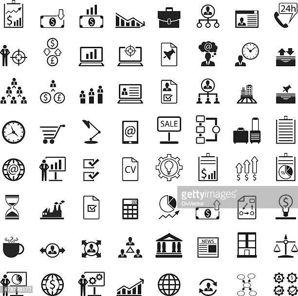 Universal business management icon set