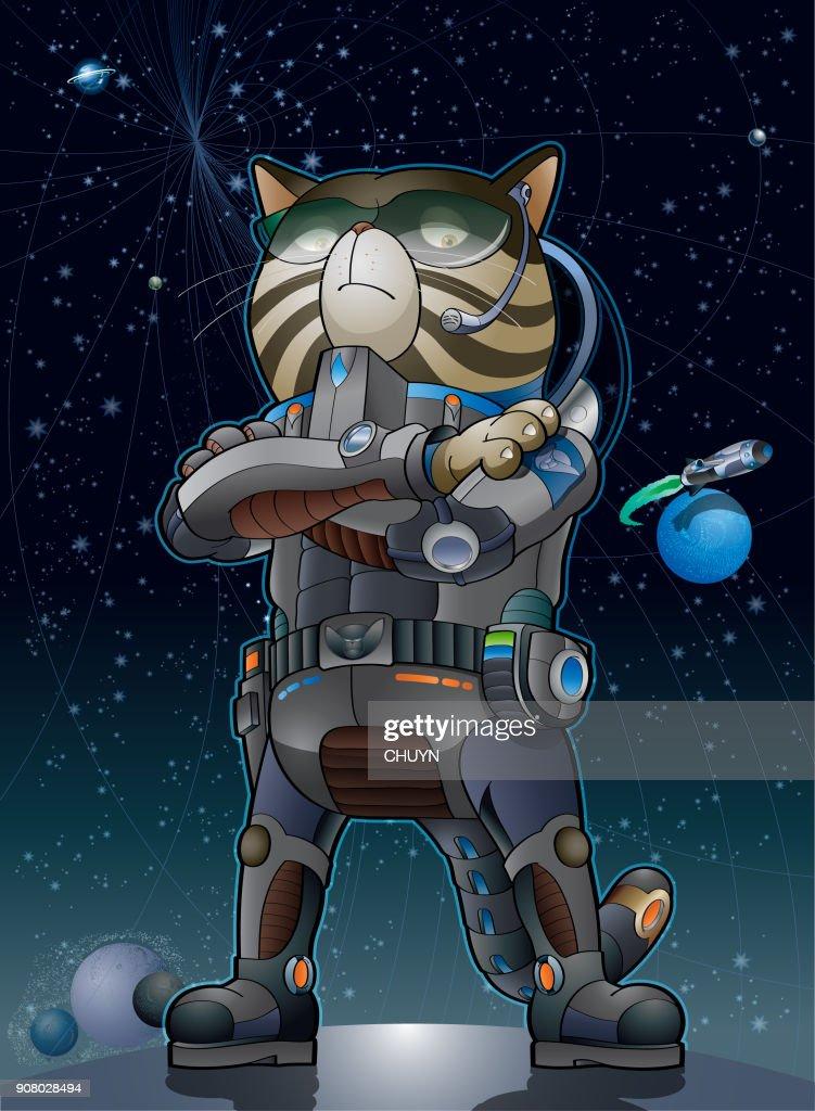 Universal cat : Vector Art
