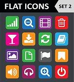 Universal Colorful Flat Icons. Set 2.