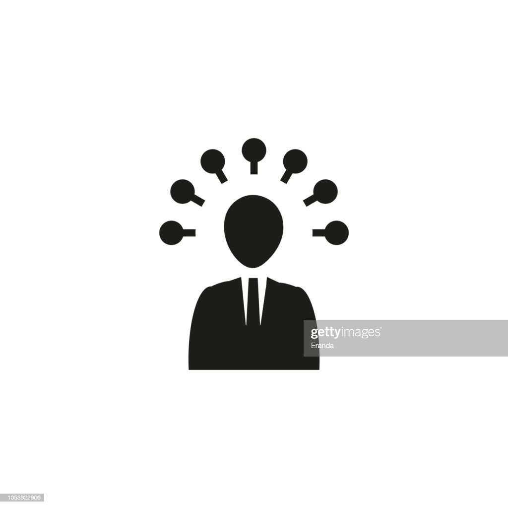 Universal, Flat and Simple seo icon to use for web and mobile. Black Illustration on White Background.