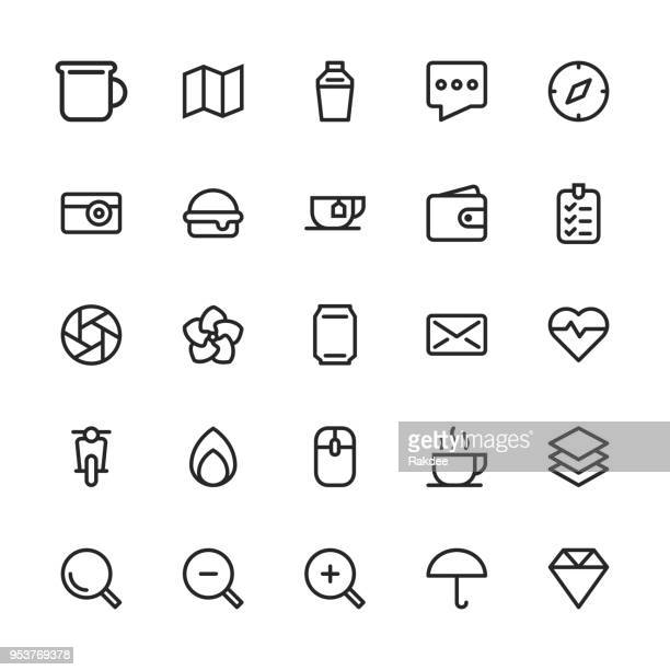 Universal Icon Set 1 - Line Series