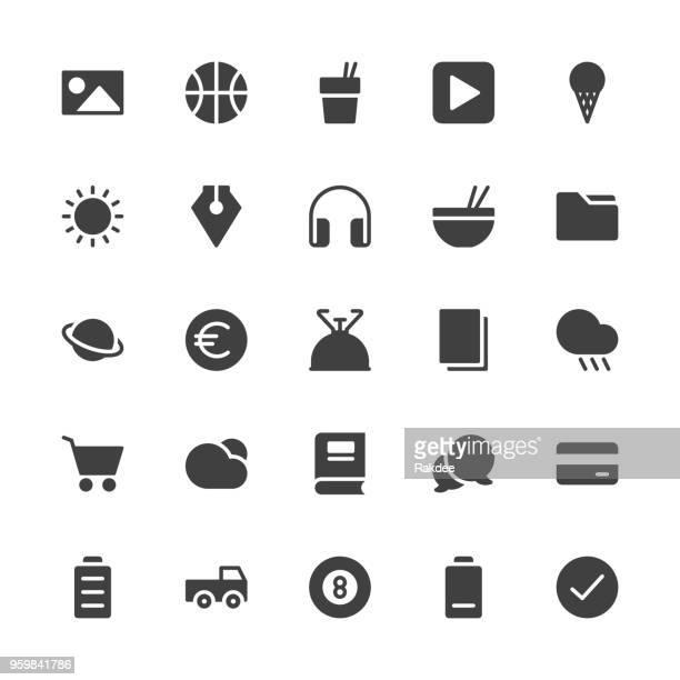 Universal Icon Set 4 - Gray Series