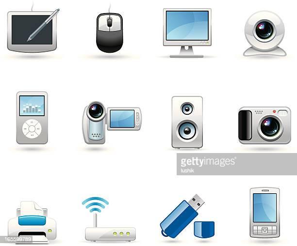 universal icon-geräte - electronic organizer stock-grafiken, -clipart, -cartoons und -symbole