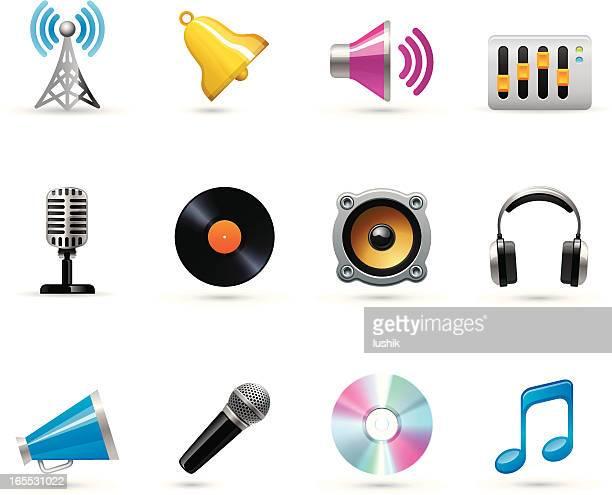 universal icons - music - computer speaker stock illustrations, clip art, cartoons, & icons