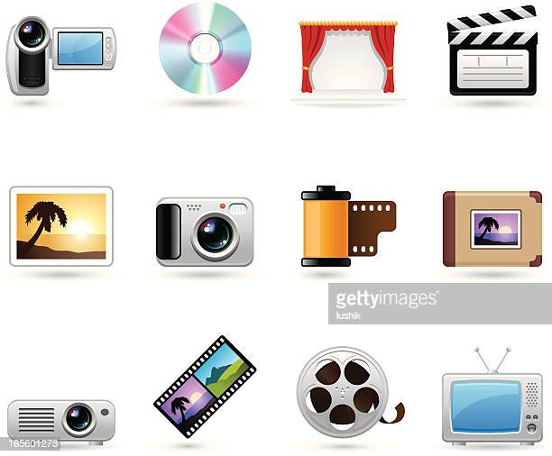 universal icons - photo and video - dvd stock illustrations, clip art, cartoons, & icons