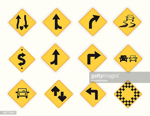 universal icons road signs - avenue stock illustrations