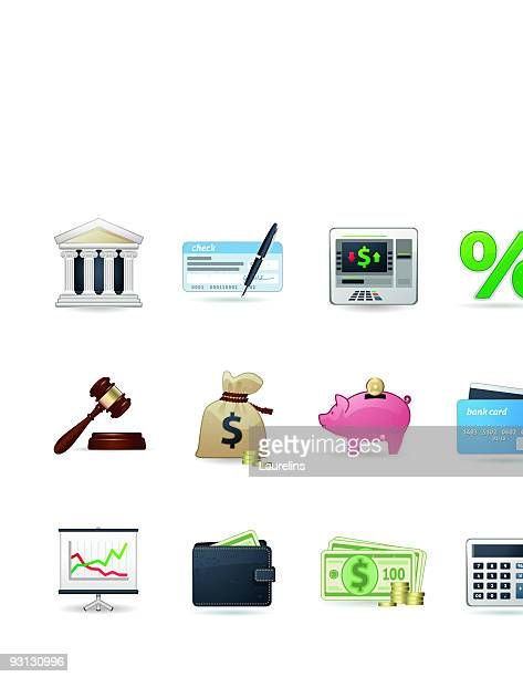 universal icons   set 12 (money & banking) - cash flow stock illustrations, clip art, cartoons, & icons