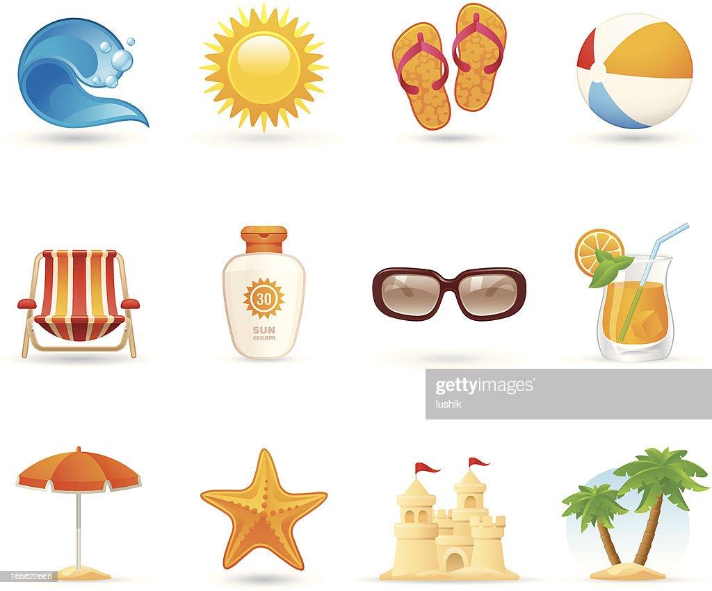 Universal icons - Sun Sea and Sand