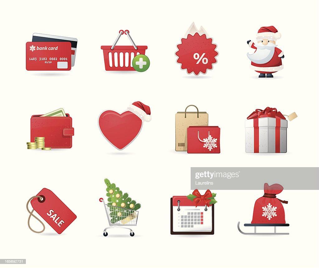 Universal icons (Christmas Shopping)