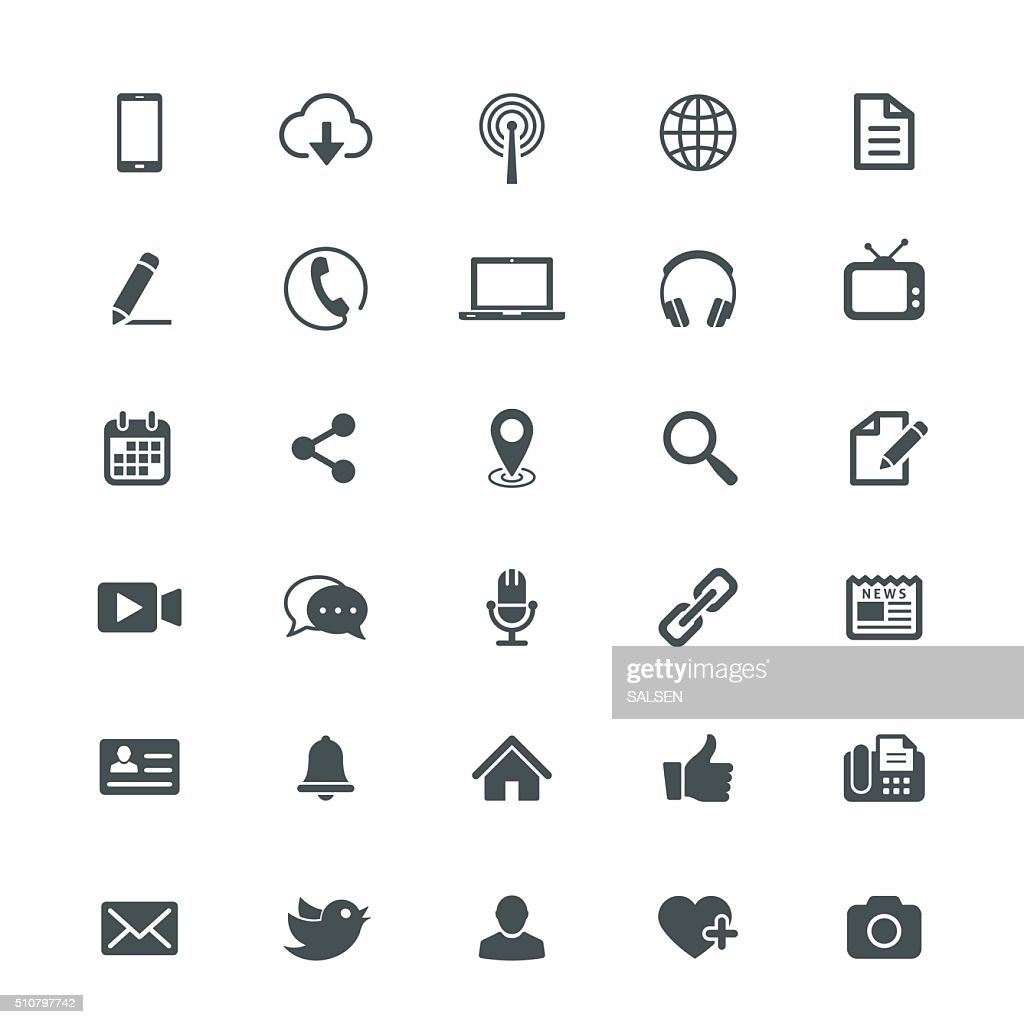 Universal Internet Icon Collection : stock vector