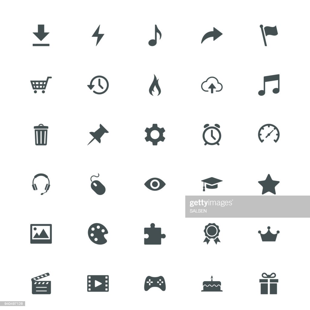 Universal Internet Icons : stock illustration