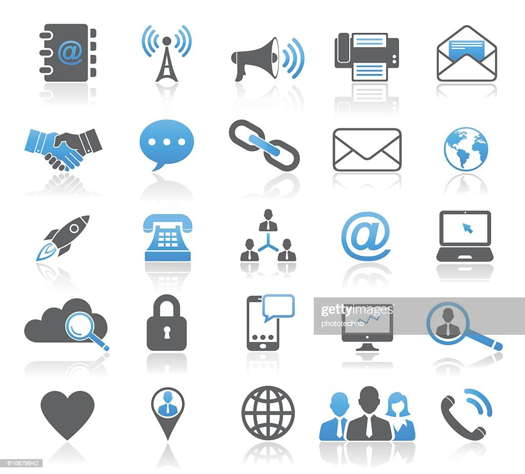 Universal Modern Contact Icon Set