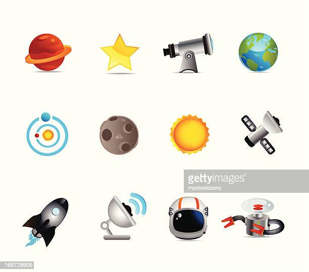 Universal Space and Astronomy Icons