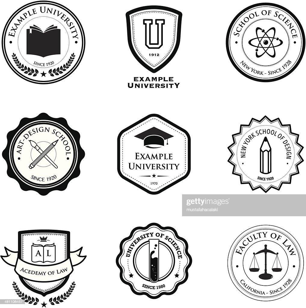 大学教育バッジ : ストックイラストレーション