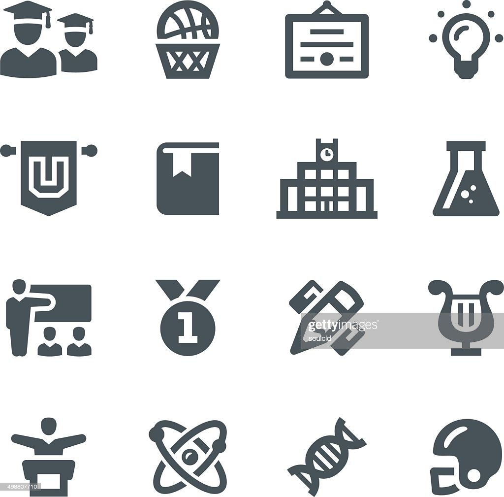 University Icons : stock illustration