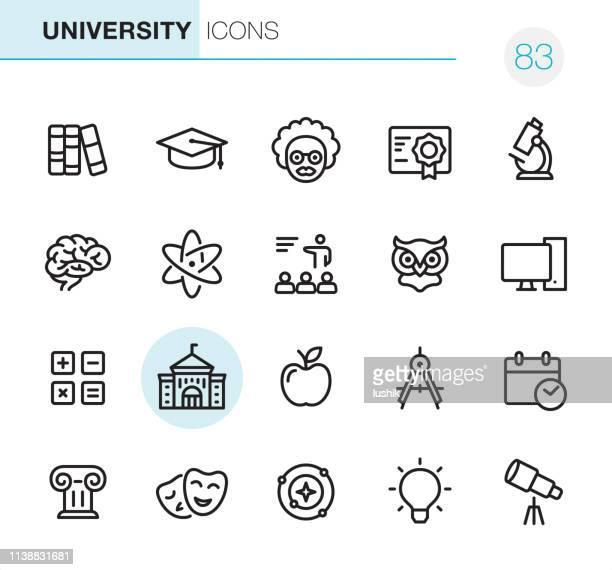 大学ピクセルパーフェクトアイコン - 大学点のイラスト素材/クリップアート素材/マンガ素材/アイコン素材