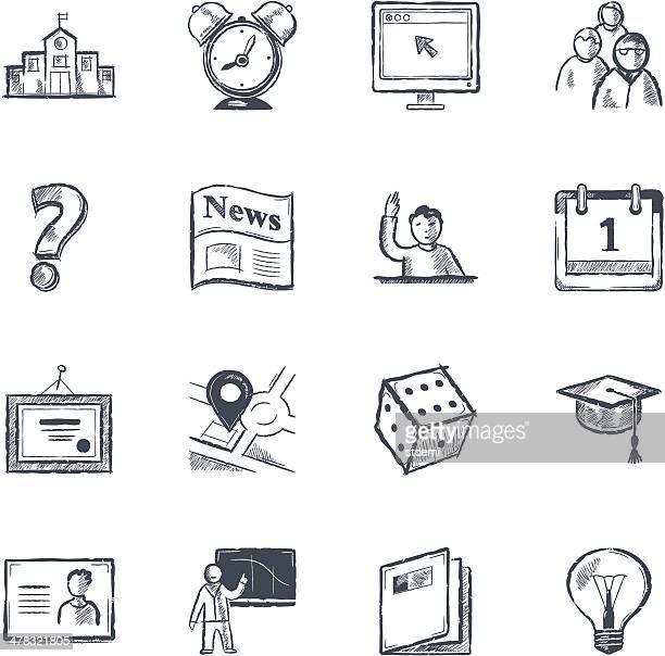 university - sketch stock illustrations