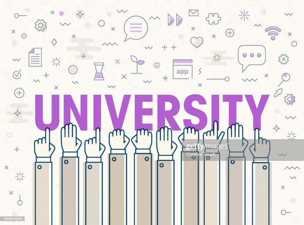 University : Stock-Illustration