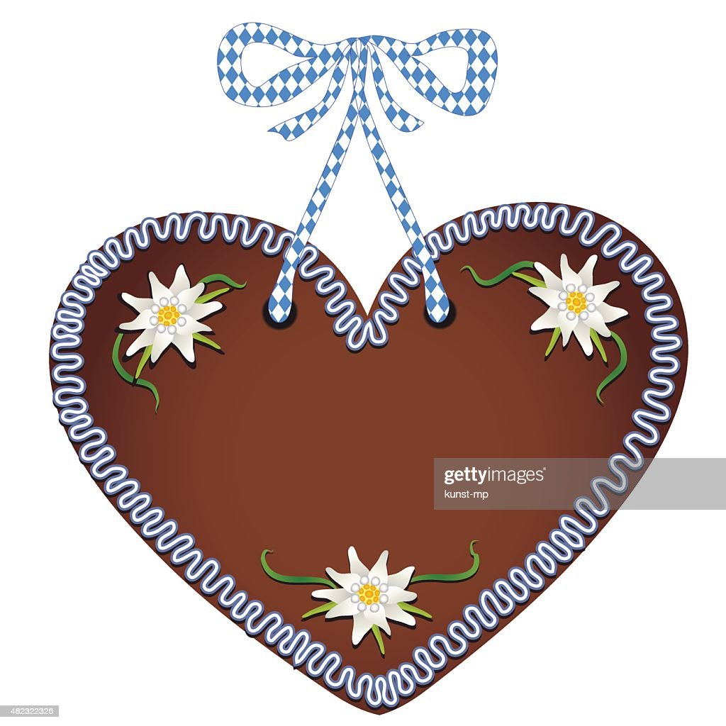 Unlabeled bavarian gingerbread heart from Germany