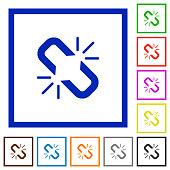 Unlink flat framed icons
