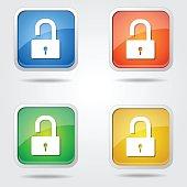 Unlock Colorful Vector Icon Design