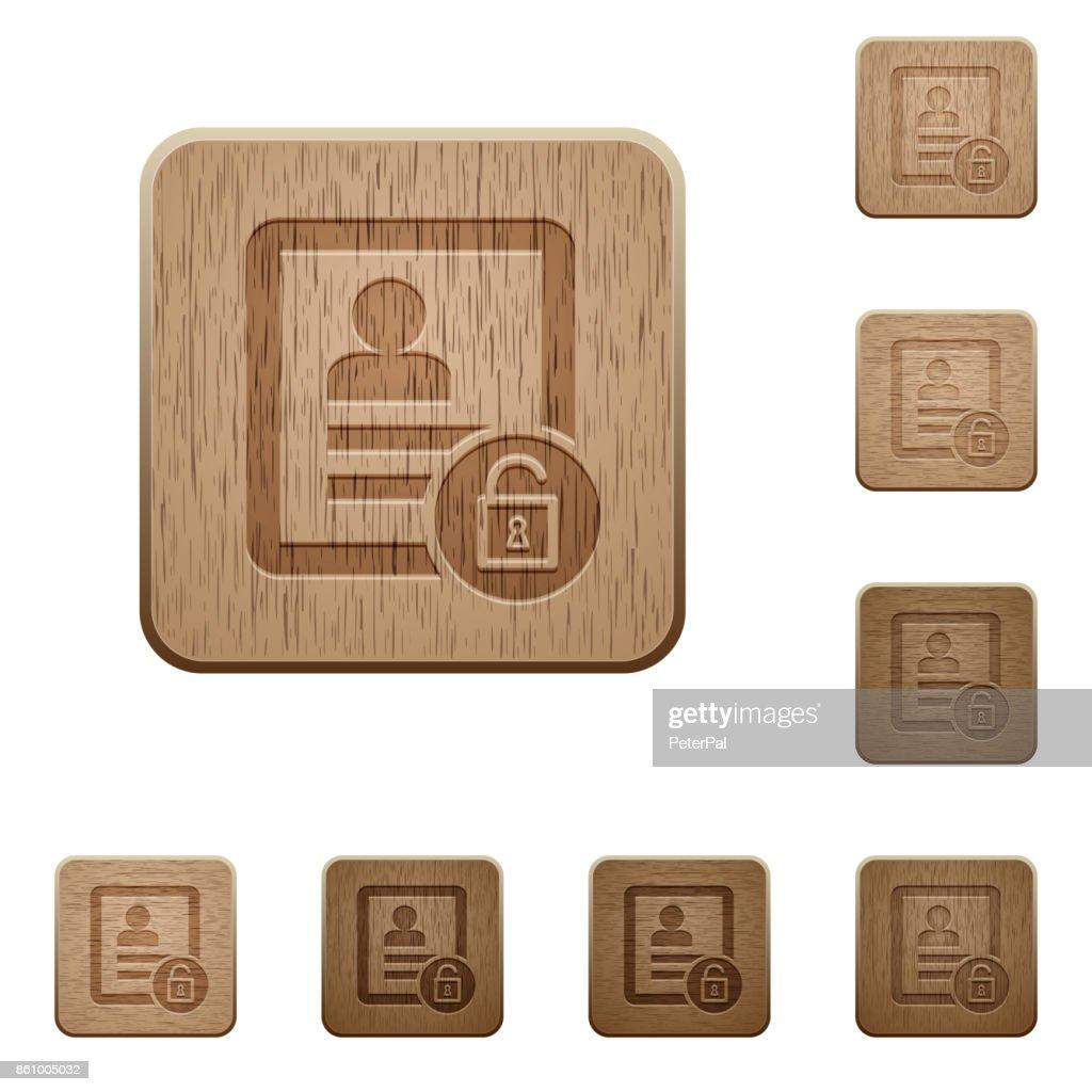 Unlock contact wooden buttons