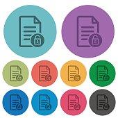 Unlock document color darker flat icons