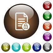 Unlock document color glass buttons