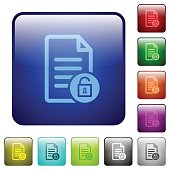Unlock document color square buttons