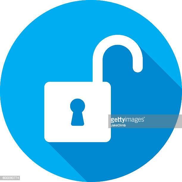 Unlock Icon Silhouette