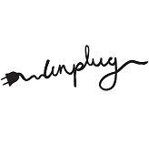 Unplug text, logo, symbol