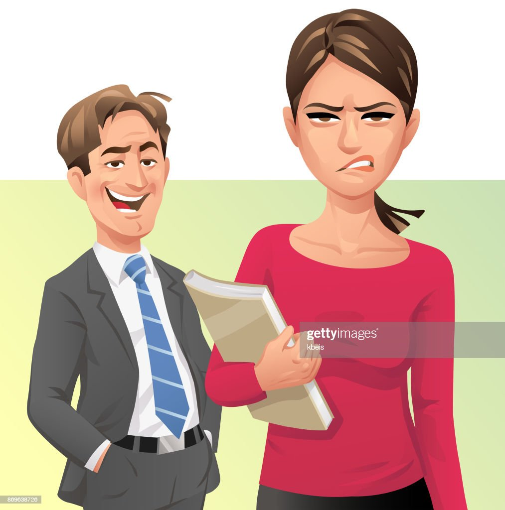 Unwanted Compliments : stock illustration